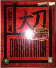 MINT, SEALED, John Romero's Daikatana (PC, 2000) Big Box game