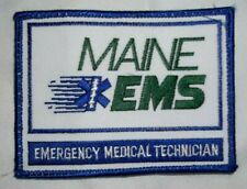 NEW Embroidered Uniform Patch MAINE EMS EMT EMERGENCY MEDICAL TECHNICIAN NOS