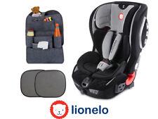 Car seat Lionelo Jasper Grey ISOFIX TETHER 9-36 kg + 2x Sun cover + Organizer