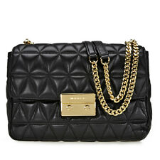 Michael Kors Sloan Extra Large Quilted Shoulder Bag- Black