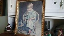 "Vintage James Ingwersen "" Gretchen "" Portrait Art Framed Lithograph Print 23""x19"