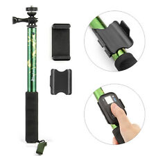 Selfie Stick Handheld Remote Pole Extendable Monopod for GoPro Camera Camo Green