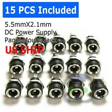 15PCS 5.5mm x 2.1mm DC Power Supply Female Jack Socket Panel Mount Connector M81