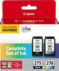 Genuine Canon Ink Cartridges PG-275 & CL-276 Original For Pixma TS3520 TS3522