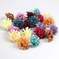 Bulk 10-100 Artificial daisy Flower Head 4cm Silk Fake Flowers Wedding DIY Decor