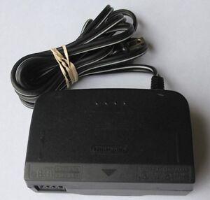 ↘️Official Nintendo 64 N64 AC Adaptor Power Cord Cable Plug OEM Original Retro