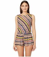 NWT MISSONI MARE ICONIC ZIGZAG JUMPSUIT COVER-UP, SIZE 40