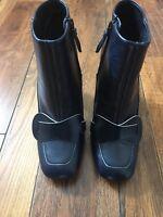 NEW TORY BURCH Ankle Bootie Bond Booties Zip Heeled Navy Blue Boots 7 $450