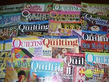 20 QUILTING MAGAZINES QUILTERS, FONS & PORTERS, ROSES, LOVE OF QUILTING #BB  FS