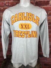 Vintage USA Carlisle Iowa Wrestling Single Stitch T Shirt Long Sleeve XL -B22