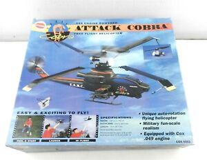 Cox 4502 Attack Cobra Helicopter 1997 Free Flight .049 Engine~Unassembled~ T173
