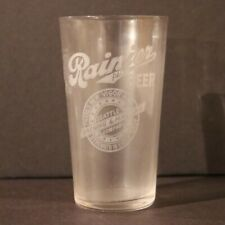Seattle Brewing Rainier Beer Etched Paneled Glass