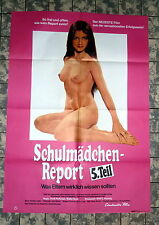 SCHULMÄDCHEN-REPORT 5. TEIL * A1-FILMPOSTER - German 1-Sheet´71 EROTIK KULT