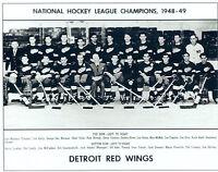 1948 1949 DETROIT RED WINGS 8X10 TEAM PHOTO HOCKEY NHL HOWE STANLEY CUP MICHIGAN