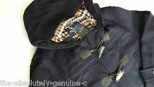 AQUASCUTUM Hooded Duffle Coat Jacket NAVY BLUE Made UK sz 48 BNWT