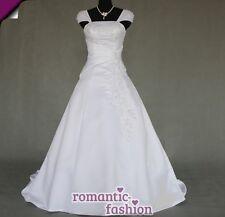 ♥Elegantes Brautkleid, Hochzeitskleid Weiß oder Creme+Größe 34 bis 54+NEU+W054 ♥