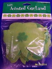 Shamrocks Green Clover St. Patrick's Day Holiday Party Decoration Felt Garland