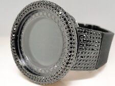 Mens 52Mm Techno Com Kc Joe Rodeo Simulated Black Diamond Watch 20 Ct