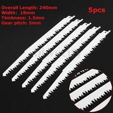 5PCS Reciprocating Saw Blades 240mm 5 TPI Sabre Wood Saw Carbon Steel For Makita