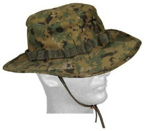 Military Issued USMC Green Digital Marpat Boonie Hat-NEW