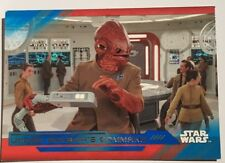 2018 SDCC COMIC CON TOPPS STAR WARS Under Ackbar's Command trading card