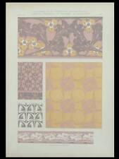 DECOR ART NOUVEAU, MAURICE DUFRENE -1909- LITHOGRAPHIE, CARREAUX, CERAMIQUES