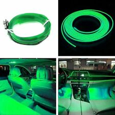 2M 12V EL Wire Green Cold Light Neon Lamp Car Atmosphere Lights Unique Decor NEW