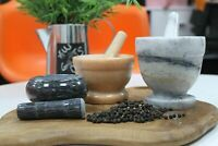 Marble Pestle And Mortar Set Stone Grinding Crushing Grinder Herbs Spices New