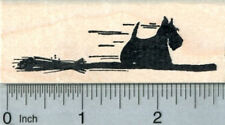 Scottish Terrier Witch Rubber Stamp, Halloween Series G30930 WM
