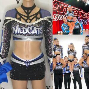 Cheerleading Uniform  Allstars CA Wildcats AGT & World Champs Rare Adult XS