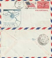 US 1959 PAN AM FAM 5 FIRST FLIGHT FLOWN COVER NEW YORK NY TO CARACAS VENEZUELA