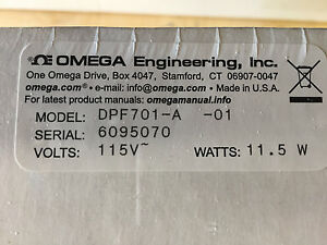 Omega 6-DIGIT RATEMETER/TOTALIZER - DPF701-A-01