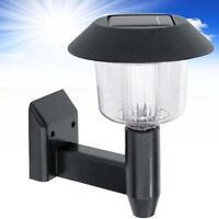 Outdoor Garden Solar Powered Led Door Fence Wall Lights Light Lantern Black GA