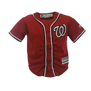 Washington Nationals Genuine MLB Majestic Cool Base Youth Kids Size Jersey New