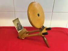 Rare Early Vintage Wooden Postcard / Card / Photo Magnifier Viewer