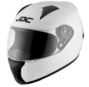 JDC Prism Motorcycle Helmet - White, Size S