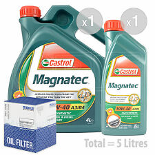 Engine Oil and Filter Service Kit 5 LITRES Castrol Magnatec 10w-40 5L