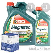 Engine Oil and Filter Service Kit 5 LITRES Castrol Magnatec 10w-40 5L