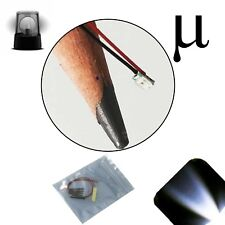 10 x 12v 0807 0805 Cool Clear White Micro Flashing SMD Pre-Wired LED Blinking 9v