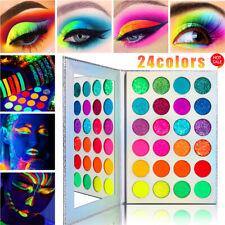 24 Colors Sequins Glow Eyeshadow Palette Fluorescent Eye Shadow Makeup Cosmetics