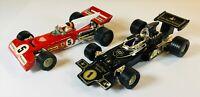 PAIR OF CORGI TOYS FERRARI 312 B2 & JOHN PLAYER SPECIAL F1 RACING CARS