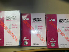 1998 Malibu and Cutlass Factory Repair Shop Service Manuals 3 Vol.. 2nd edition