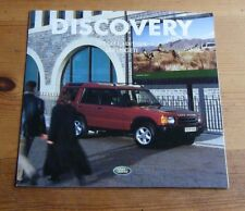 LAND ROVER DISCOVERY SERENGETI 5 & 7 SEATER SPECIAL EDITION SALES BROCHURE 2002