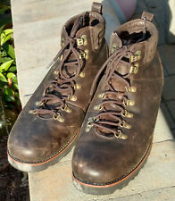 UGG Capulin Mens Brown Leather Waterproof Sheepskin Lined Hiking Boots Size 16