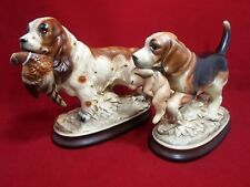 Vintage Ceramic  SPRINGER SPANIEL /BEAGLE Figurine Hunting Dogs Japan UCGC Pair