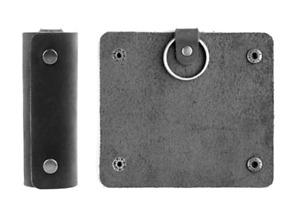 men women key box case Rings holder pocket real cow Leather pouch bag black 597