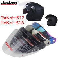 Jiekai 512 516 Motorcycle Helmet Visor Casque Moto Wind Shelter Replace Lens