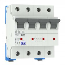 Miniature circuit breaker B25A 3-Pin+N 10kA Vde Backup Maker Mcb Sez