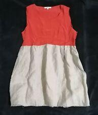 Celine Silk Colorblock Dress