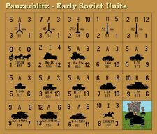 Avalon Hill's Panzerblitz Early Soviet Counters